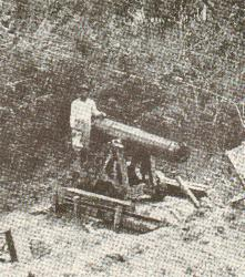 One of the Filipino guns which endangered the 1st California's troops