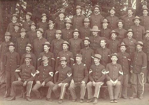The 1st Idaho Volunteer Infantry, Co. H, 1898
