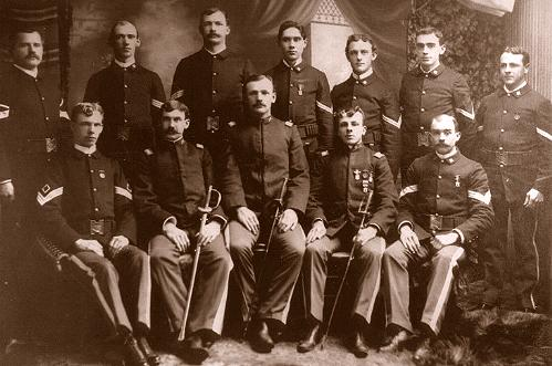 Officers and Non-commissioned officers of the 2nd Massachusetts Volunteer Infantry, Co F, 1898