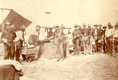 Mess Line of the 3rd New York Volunteer Infantry