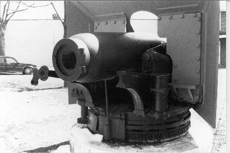 The breech of the gun
