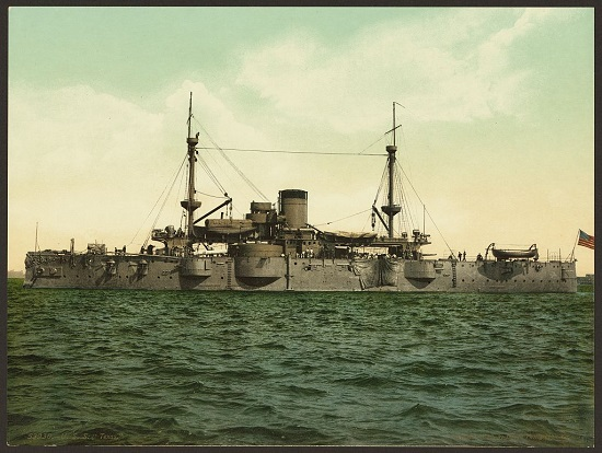 Profile View of the Battleship U.S.S. Texas, 1898