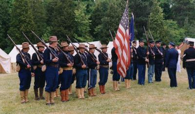 The troops, inspected by the Adjuatant General of the National Guard