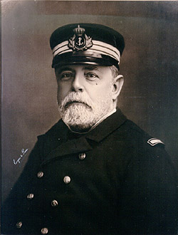 1886, as Captain presiding the commission in charge of construction of Pelayo