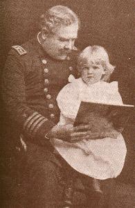 Capt. Charles Clark with his granddaughter