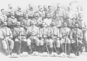 Officers of the Constitution No. 29 Regiment at Santiago