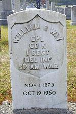 Graves of Spanish American War Vetrans Buried in Delaware