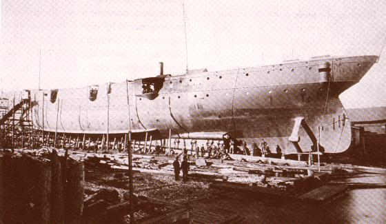 USS Detroit under construction