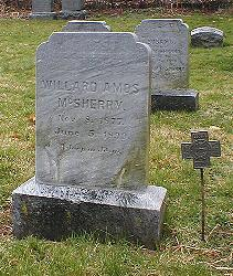 Grave of Willard Amos McSherry in Pennsylvania