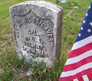 Grave of Jesse Wilson Avery, 10th U.S. Volunteer Infantry in New Jersey